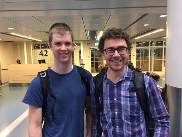 Vi träffade Johan Lövgren och Björn Rydvall på Arlanda. De hade kört La Sgambeda och verkade nöjda med resultaten.