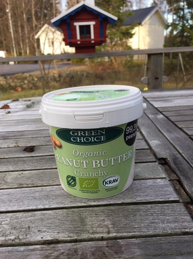 Green Choice jordnötssmör crunchy i storpack