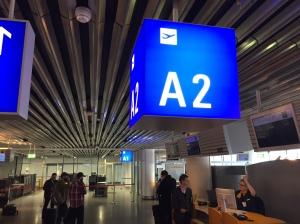 A2 från Frankfurt till Salzburg. Min favoritgate.