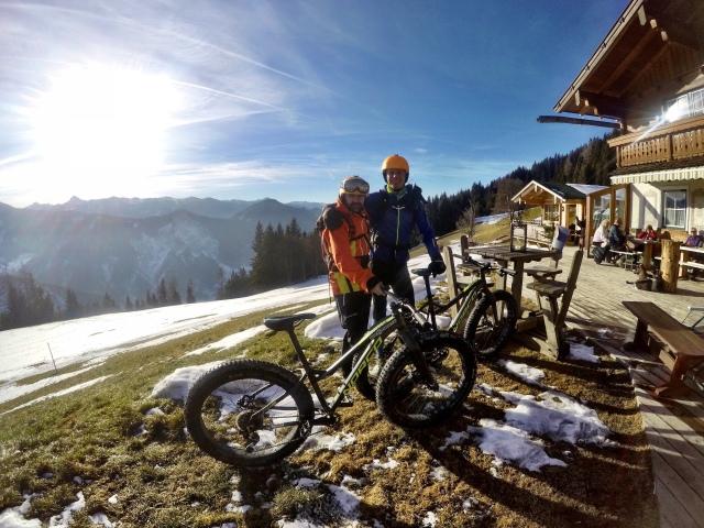 Michael sade att han cyklar 250 mil på snö varje vinter