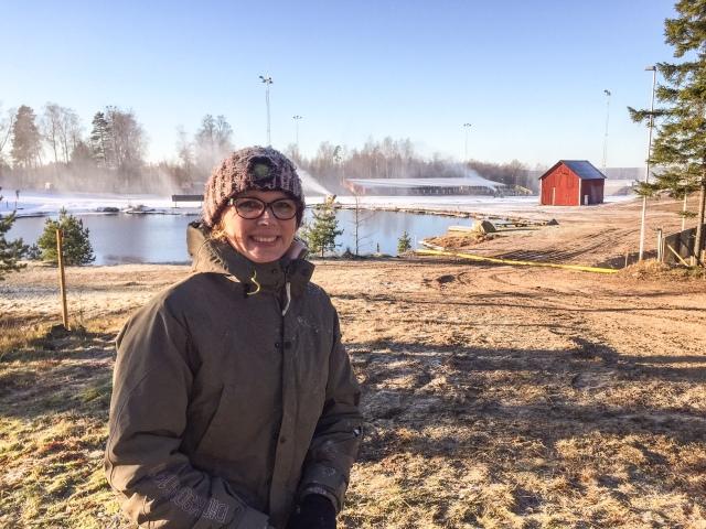 Den här bilden är från Ulricehamnsbesöket med min syster Ellen Lindell och barnen i måndags. Konstsnön är välbehövlig för världscupen 21-22 jan som kommer att bli en härlig folkfest!