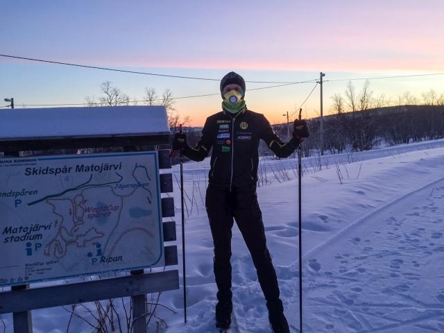 Skidåkning i Kiruna