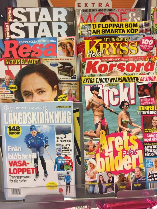 Nyligen skrev jag till viss del om och förkortade min skidbok, vilket resulterade i en längdskidsbilaga för Aftonbladet. Kändes spännande att idag se den vid sidan om tidningar med mer somrigt fokus.