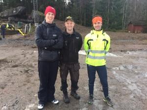 Inte illa att hela drömlaget från GM 1995 hamnade på samma ställe igår. Joakim Albrektsson i mitten och Henrik Pentonen till höger. Henke heter dock något annat i efternamn nuförtiden.