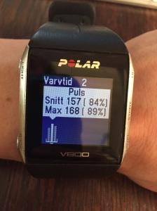 5000 m på planerat 18.24 min