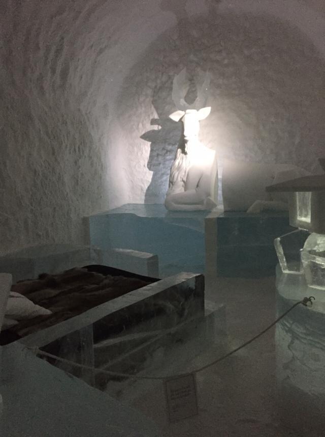 Ett rummen i Icehotel