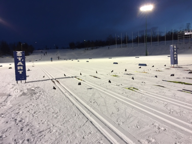 Camp Ripan-loppet startar på Matojärvi. 3 varv på ca 13,5 km via bl a Varggropen och Camp Ripan.