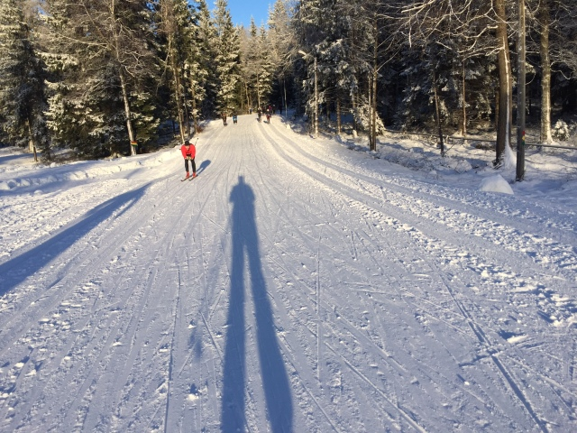 Borås skidstadion en helt vanlig januaridag