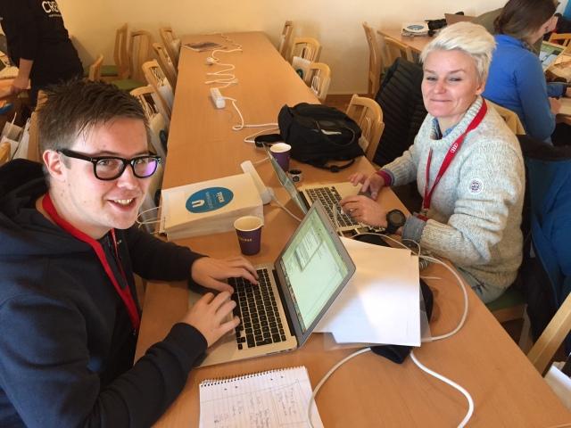 Oskar Pålsson och Li Edqvist på Borås Tidning. Big ups till BT som skriva spaltkilometer om världscupen! Med all rätt.