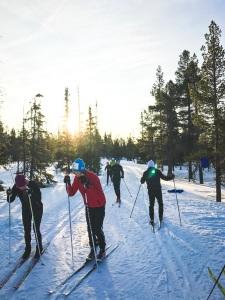 Teknikträning Erik Wickström Vasaloppsläger i Grövelsjön. Foto: Love Ljungström.