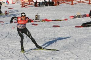 Dario Cologna i Ulricehamn 21 jan 2017. Foto: Ulf Wickström.