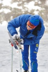 Erik Wilhelmsson stryker ut klister med kloss