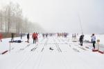 Före starten av Borås Ski Maraton 2017