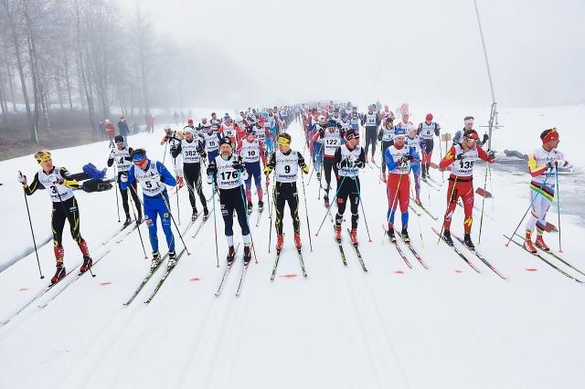 Borås Ski Maraton starten 2017. Foto: Tomas Eriksson, Studio Bildbolaget.