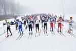 Starten Borås Ski Maraton 2017. Jag längst till vänster.