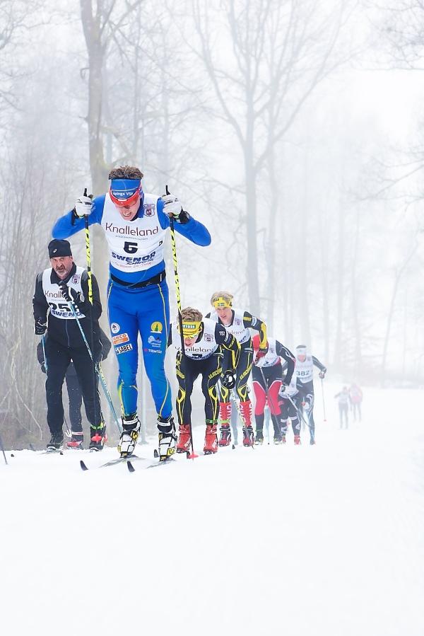 Erik Wilhelmsson drar klungan. Han drog överlägset mest av alla.