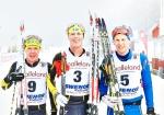 Martin Gotting, Erik Wickström, Erik Wilhelmsson, pallen i Borås Ski Maraton 2017