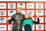 Herrsegraren och damsegraren i Borås Ski Marathon 2017. Erik Wickström och Emma Månsson.