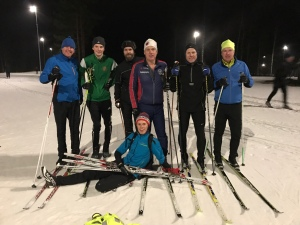 Skidlektion/teknikträning i Ånnaboda 1 feb 2017.