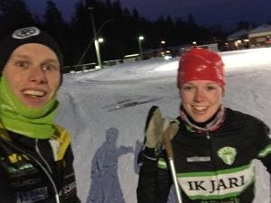 Angelica Edvardsson och jag. Andra gången jag träffar henne, första gången var vid Finnmarksturen 2011.