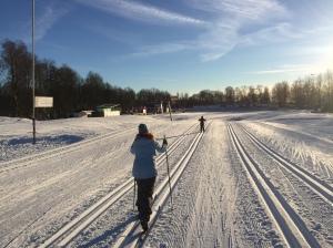 Borås skidstadion 14 februari 2017. Helt ok arbetsmiljö.