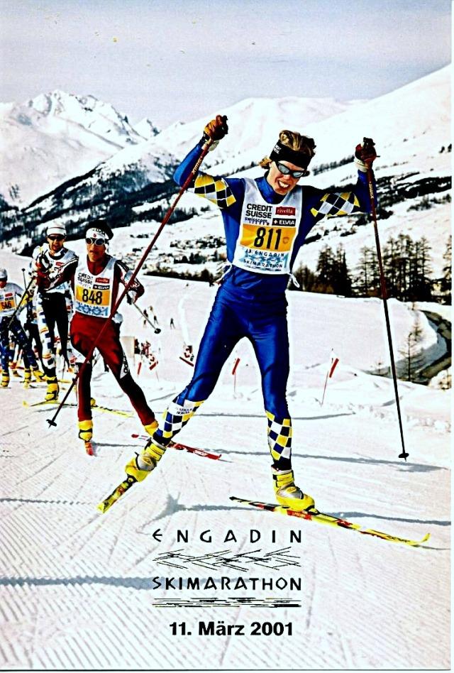 2001 (och 2000) åkte jag Engadin skimarathon. Härligt lopp alldeles för få svenskar åker. Över 10 000 deltagare.