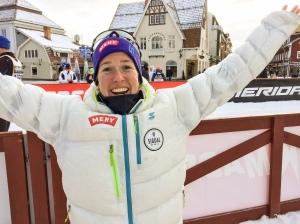 Astrid Øyre Slind var såklart nöjd med 2:a-platsen