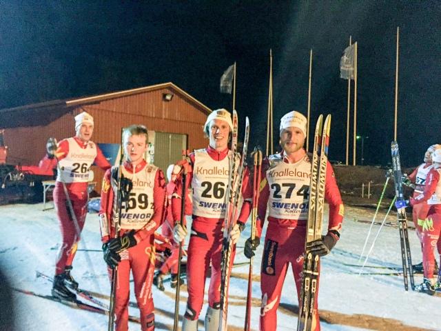 2:an Petter Persson, 1:an Erik Wickström och 3:an Alexander Westberg från Borås SK:s klubbmästerskap 2017