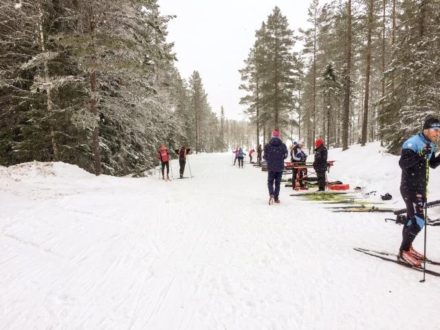 Skidtester vid Lövnäsvägen strax innan Mångsbodarna