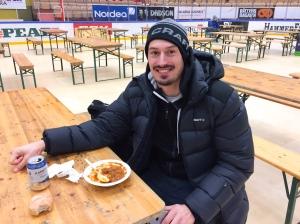Erik Melin Söderström efter Vasaloppet 2017, där han spydde i Björnarvet