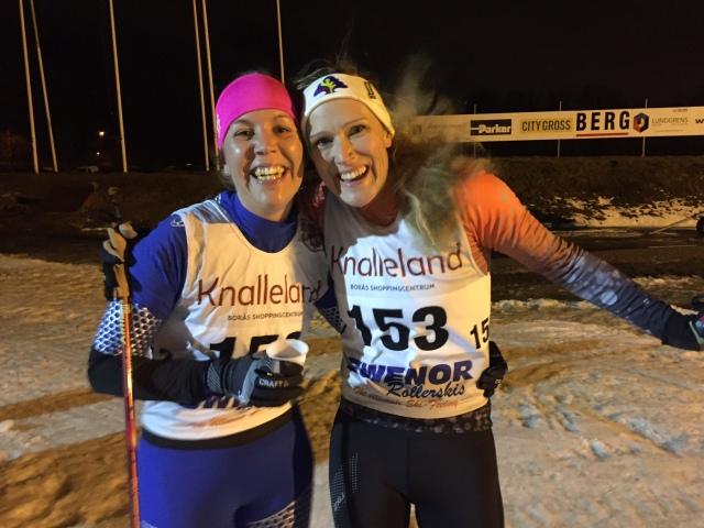 Malin Andersson och Sandra Gerhardsson spurtade hårt mot varandra. Malin vann D21, Sandra vann D35.