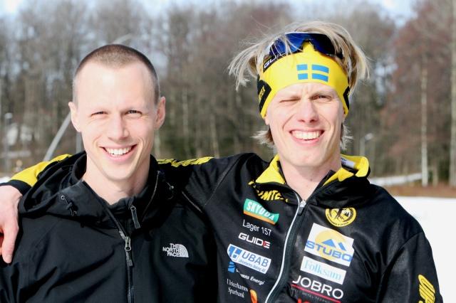 Martin Josefsson kom förbi och gav mellantider. Alltid gott att ha med denne fantastiskt gode vän. Han har några tillgodo på mig om man säger så.