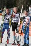 Johan Kanto, Erik Wickström och Stefan Sunnerberg. Pallen i H35.
