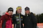 Kristina Hugsson, Catharina Ramhult och Carina Askengren. Pallen i D50.