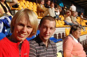Apropå Uppsala så såg det ut så här när Mattias Bolander och jag tittade på Bälinge damfotbollslag i Uppsala augusti 2008