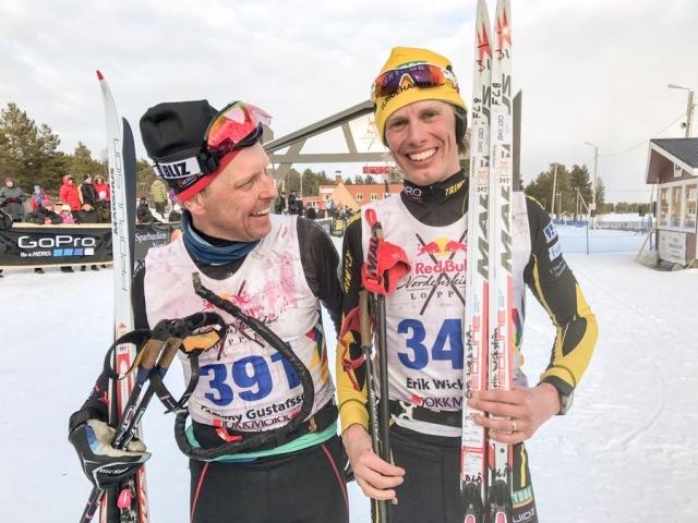 Tommy Gustafsson och Erik Wickström efter Nordenskiöldsloppet 2017