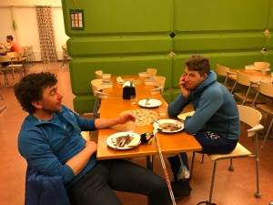 Björn Rydvall och Klas Nilsson. Klas fin 5:a. Björn, som för något år sedan diagnosticerades med typ 1-diabetes, kroknade lite på slutet och blev 9:a.