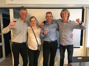 Per Lenndin, Catharina Söderström, Nichlas Aldén och jag. Starkt team som blev 2:a av de fem lagen.