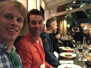 Jag satt jämte Staffan Larsson på middagen