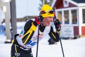 Erik Wickström efter målgång Nordenskiöldsloppet 2017. Foto: Nordenskiöldsloppet.