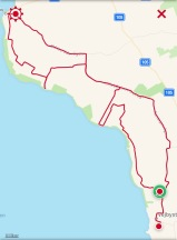 Stigletarpass mellan Vejbystrand och Torekov