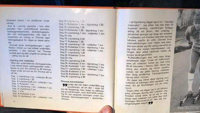 Träningsdagbok 30 dagar i juni-juli för Thomas Magnuson