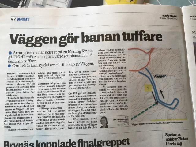 Borås Tidning 21 april 2017