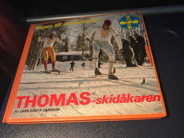 """Thomas - skidåkaren"". Bok om Thomas Magnuson."