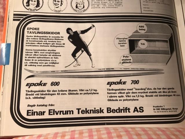 Reklam för Einar Elvrum Teknisk Bedrift AS i bok om Thomas Magnuson