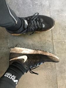 Jag kutade i ett par Nike Zoom Pegasus. Schyst doja. Lite för mycket drop för min smak, men skön dämpning och pluspoäng för avsaknad av pronationsstöd. Jag tycker att dämpning behövs, men pronationsskydd klarar man sig utan även om man pronerar.