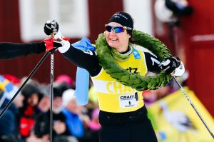 Britta Johansson Norgren vinner Vasaloppet 2017. Foto: Magnus Östh.
