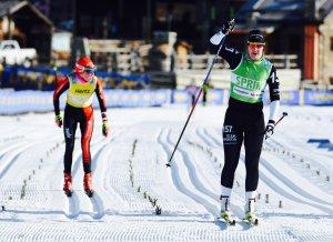 Britta Johansson Norgren vinner La Sgambeda före Katerina Smutna i december 2016. Foto: Magnus Östh.
