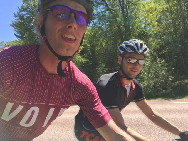 Martin Isenwald och jag på gamla R40