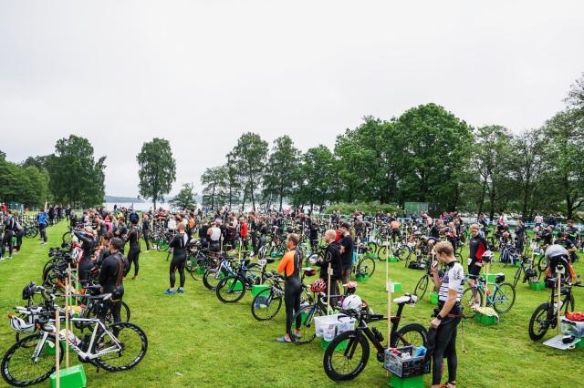 Växlingsområdet Borås Triathlon 2017, där jag var funktionär. Foto: Love Ljungström.